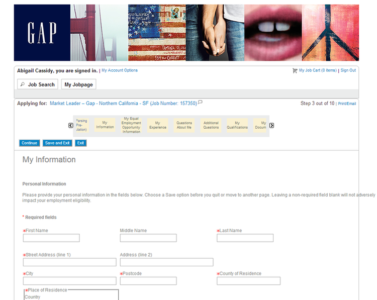 Gap Application Online: Jobs & Career Info