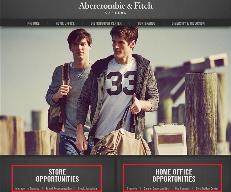 apply Abercrombie And Fitch online step 1