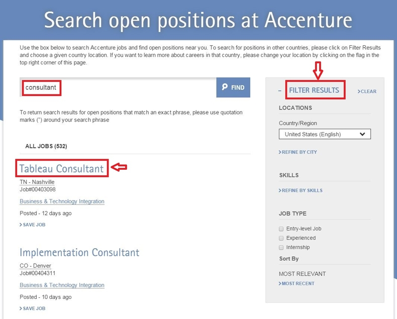 apply Accenture online step 2