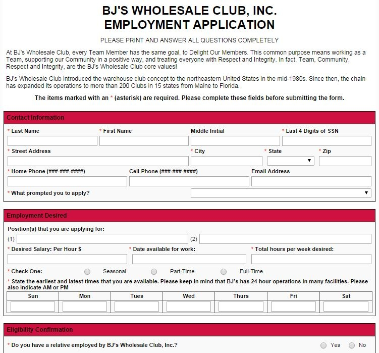 How to Apply for BJ's Jobs Online at careersatbjs.com