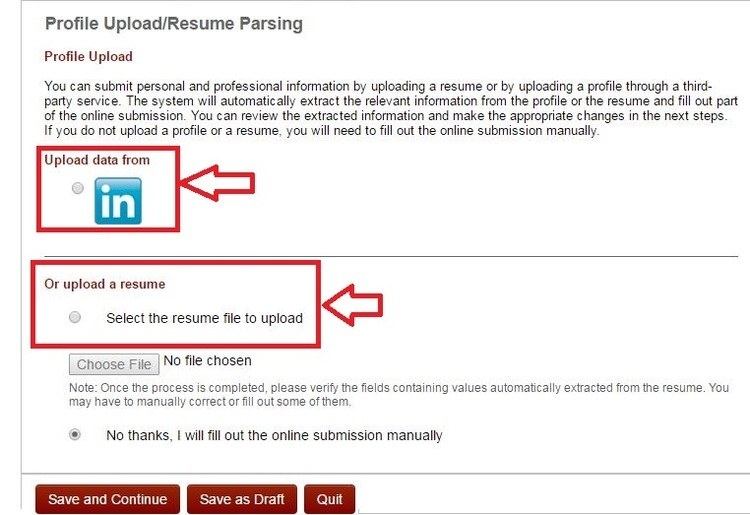 how to upload a resume online