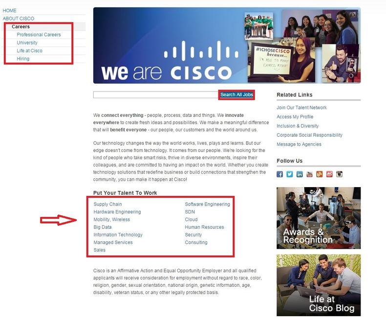 apply Cisco online step 1