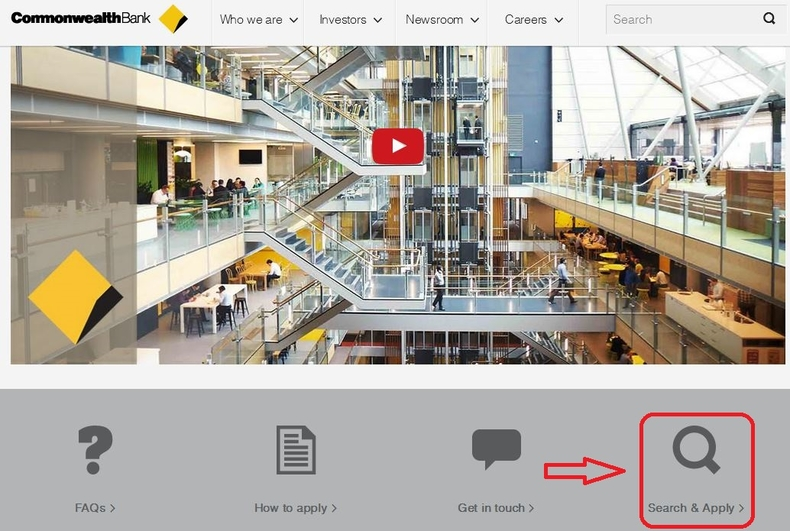 apply Commonwealth Bank online step 1