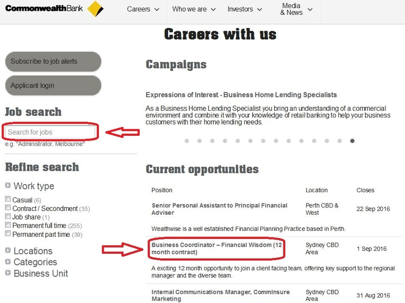 apply Commonwealth Bank online step 2