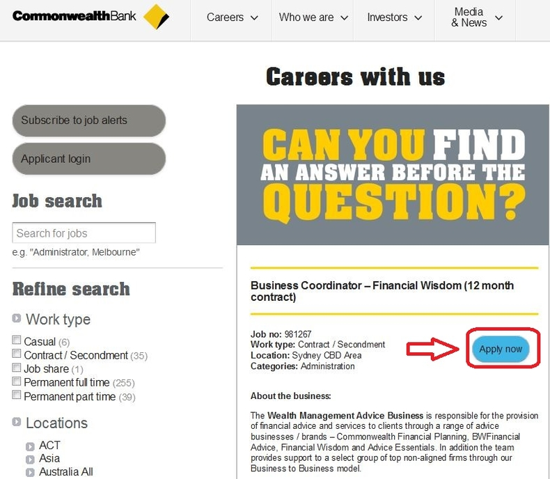 apply Commonwealth Bank online step 3