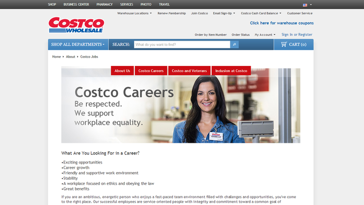apply costco online step 1