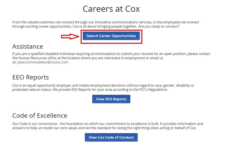 apply Cox online step 1