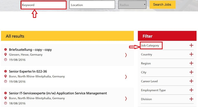 apply DHL online step 2