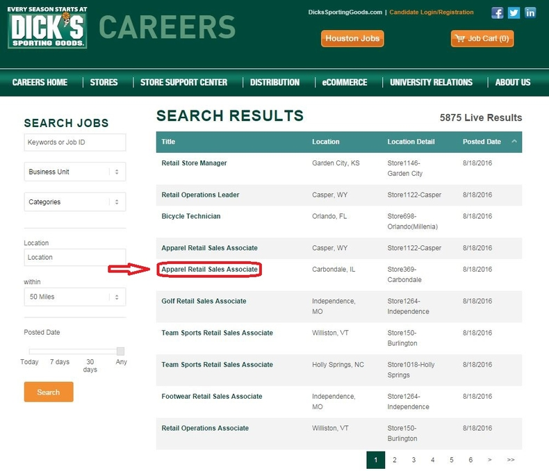 how to apply for dick u0026 39 s sporting goods jobs online at