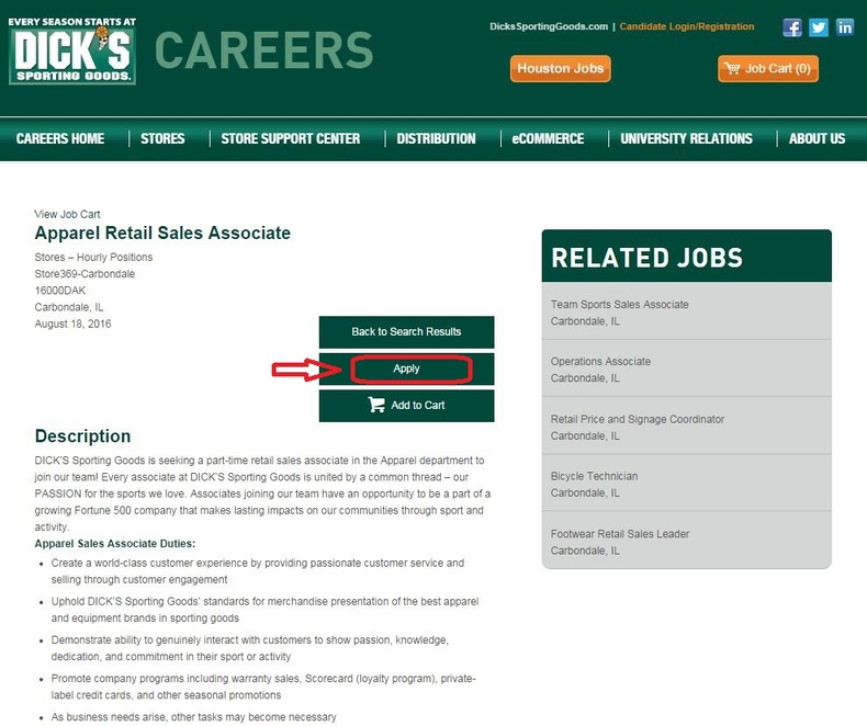 How To Apply For Dick S Sporting Goods Jobs Online At