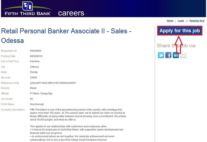 apply Fifth Third Bank online step 3