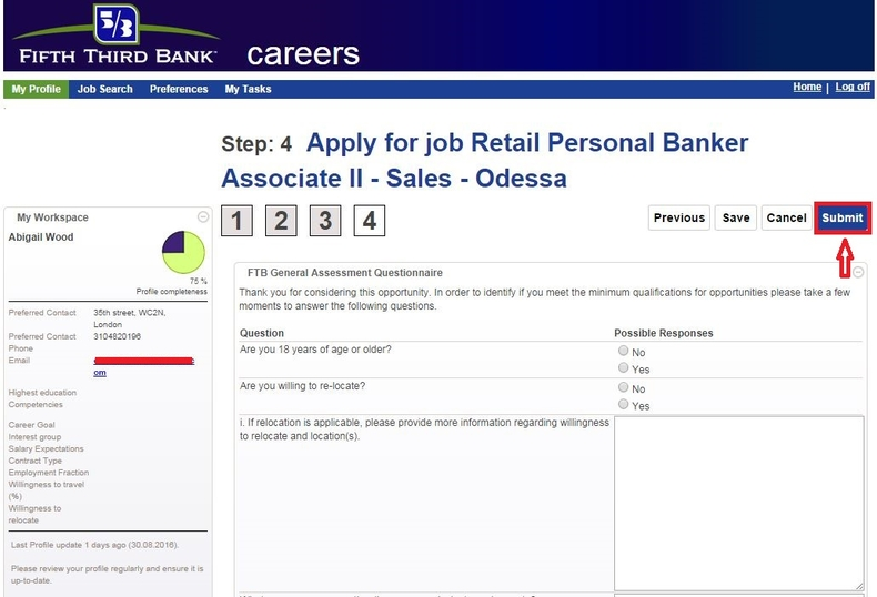apply Fifth Third Bank online step 8