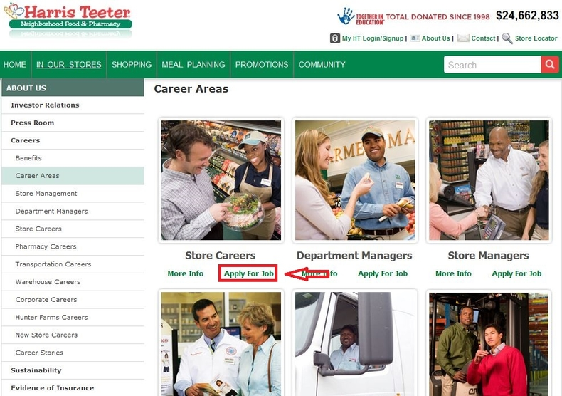 apply Harris Teeter online step 2