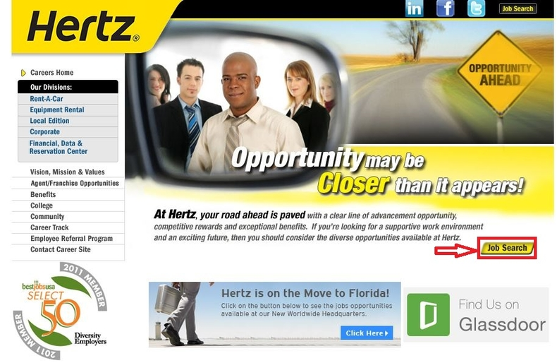 apply Hertz online step 1