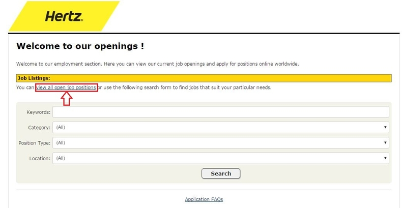 apply Hertz online step 2