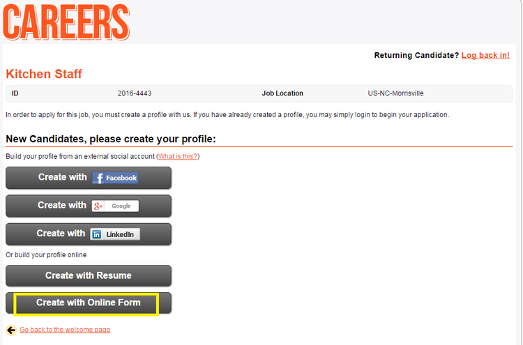 apply Hooters online step 4