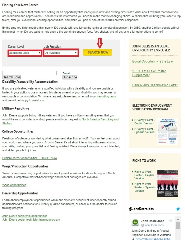 how to apply for john deere jobs online at deerecomcareers - Apply For Jobs Online How To Apply For A Job Online
