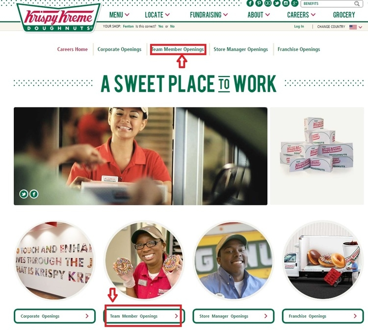 apply Krispy Kreme online step 1