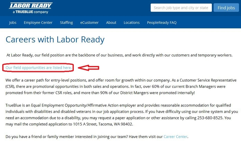 apply Labor Ready online step 1
