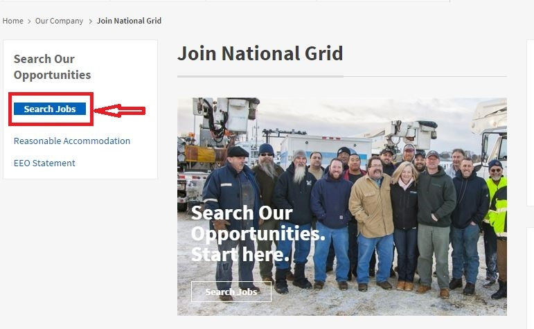 apply National Grid online step 1