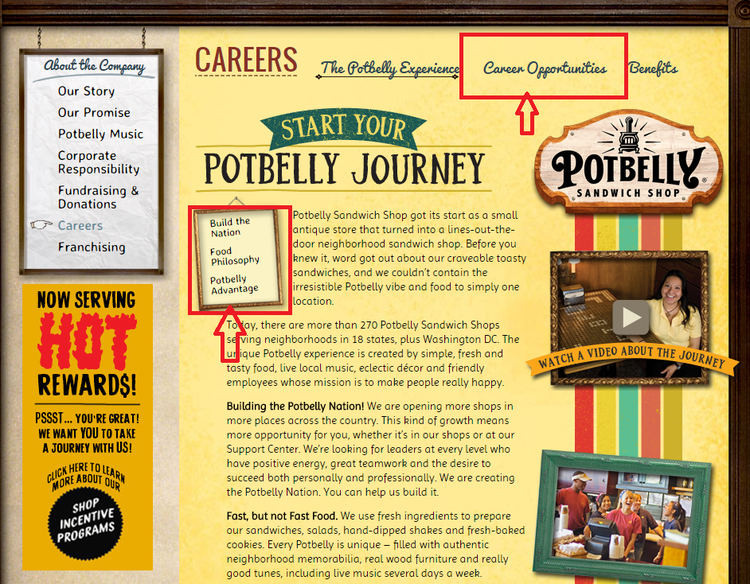apply Potbelly Sandwich Works online step 1