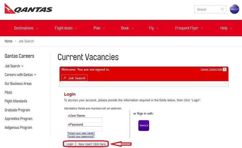 apply Qantas online step 4