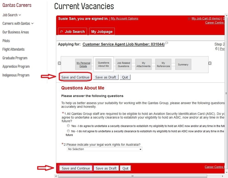 apply Qantas online step 6