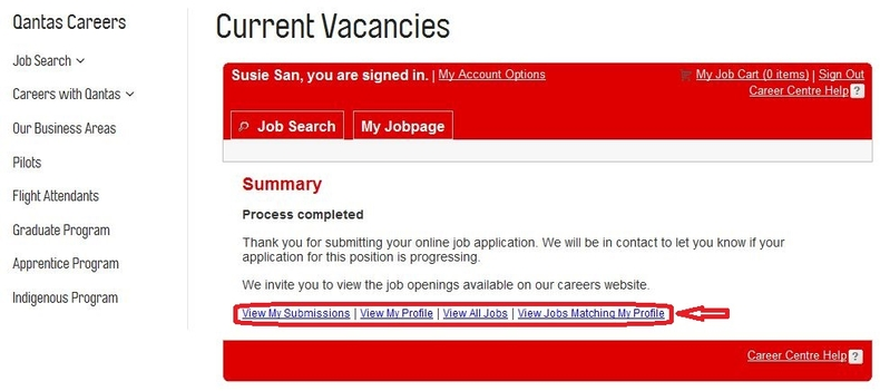 apply Qantas online step 8