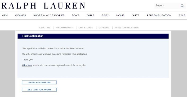 apply Ralph Lauren online step 7