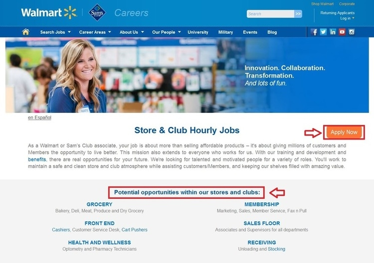 apply sams club online step 2