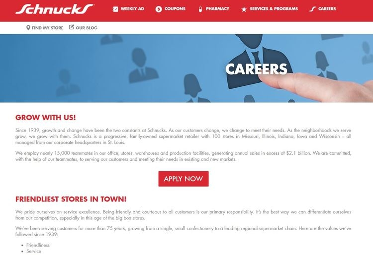 apply Schnucks online step 1