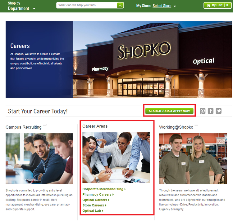 apply Shopko online step 1