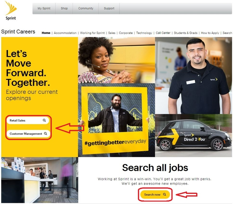 apply Sprint online step 1