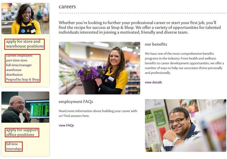 Stop and shop job application online