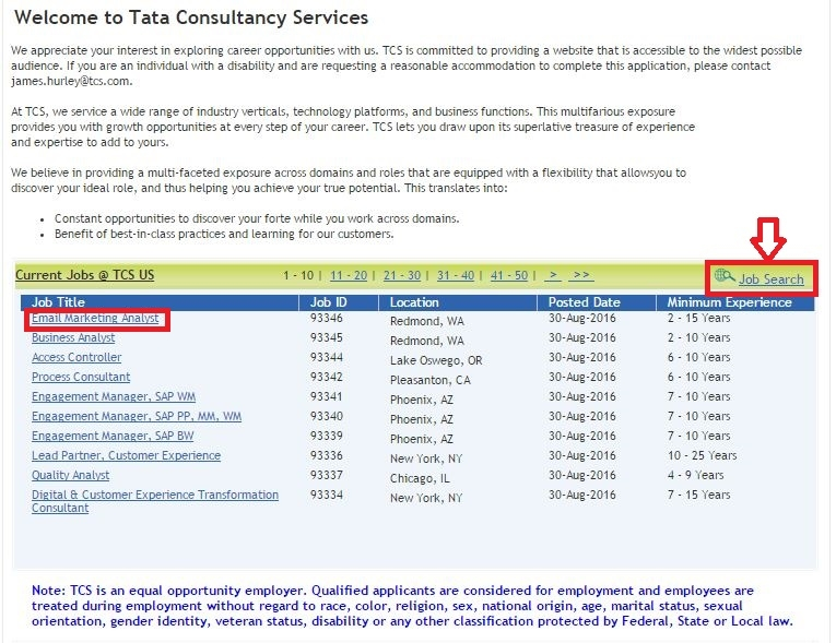 How to Apply for TCS Jobs Online at tcs com/careers