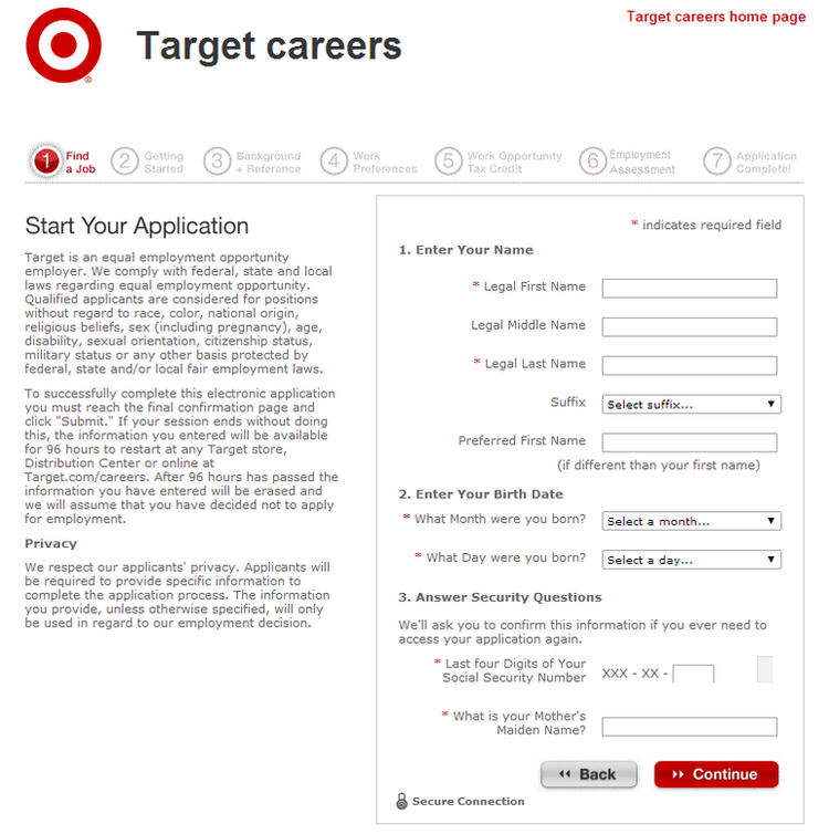 picture regarding Target Printable Application identified as How in the direction of Implement for Aim Work opportunities On the internet at /employment