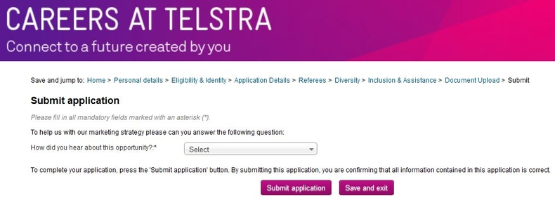 apply Telstra online step 8