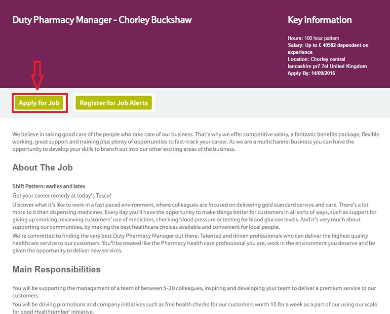 How To Apply For Tesco Jobs Online At Tescocareers