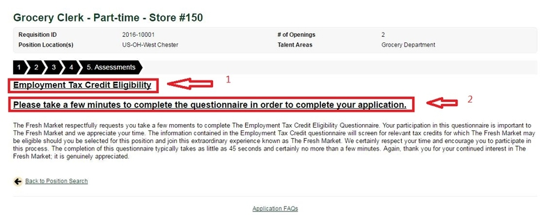 apply The Fresh Market online step 9