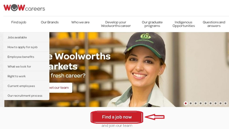 apply Woolworths online step 1