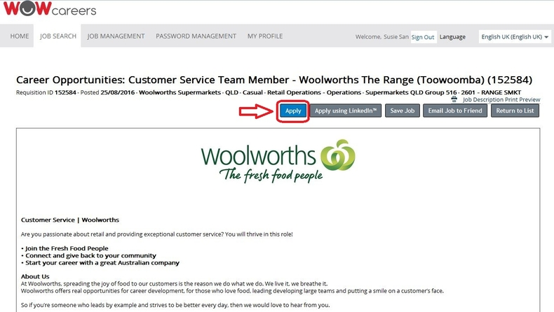 apply Woolworths online step 3
