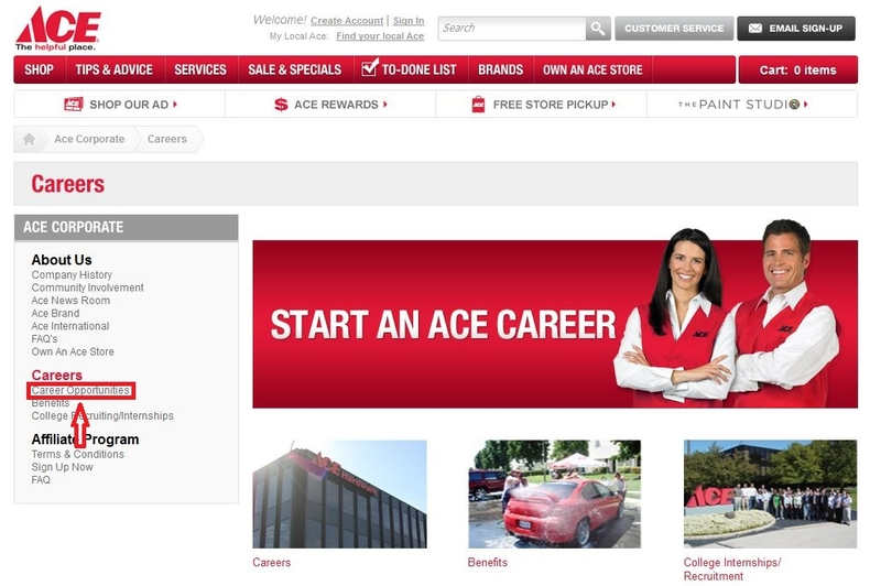 apply Ace Hardware online step 1