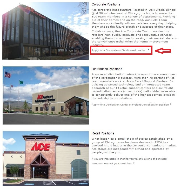 apply Ace Hardware online step 2