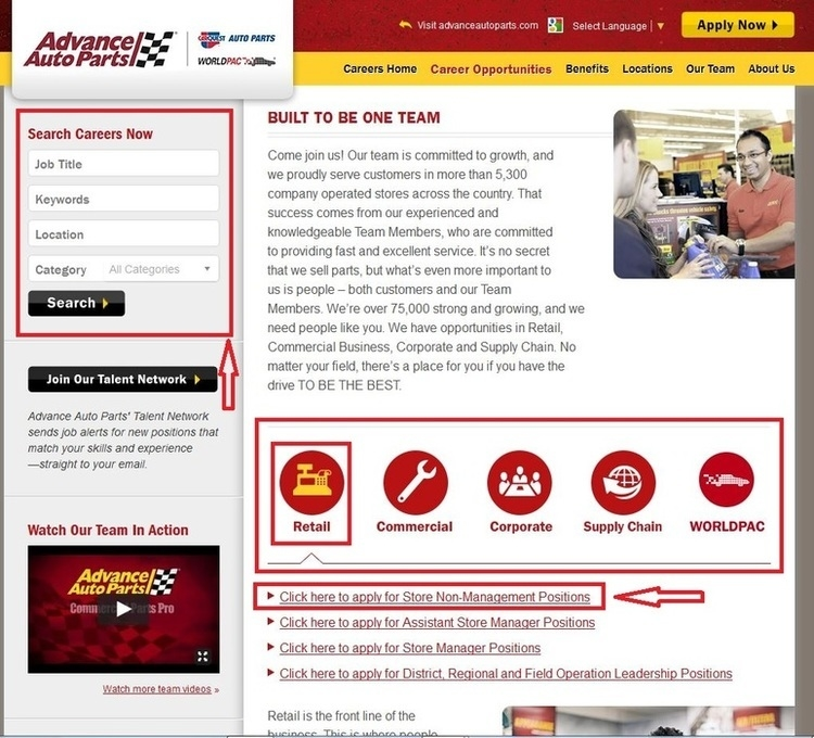apply Advance Auto Parts online step 1
