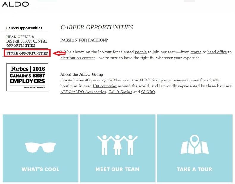 How To Apply For Aldo Jobs Online At Aldocareers