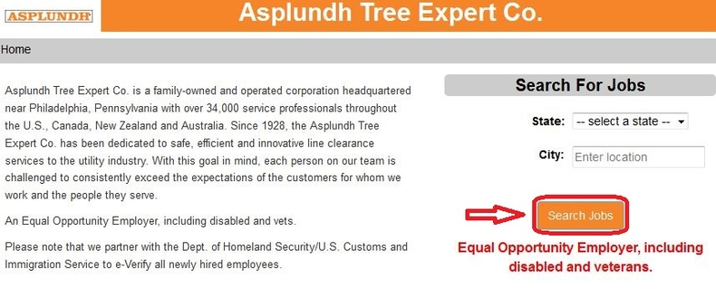 apply Asplundh online step 1
