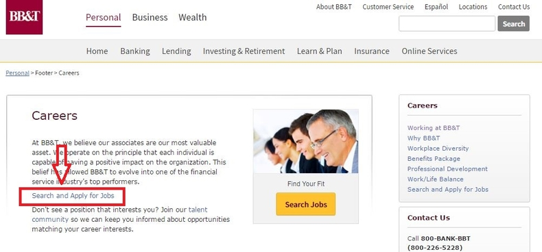 apply BB&T online step 1
