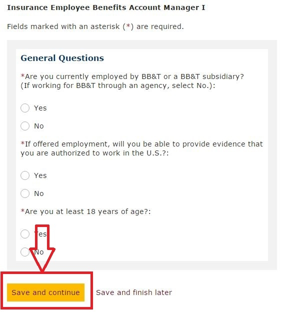 apply BB&T online step 6
