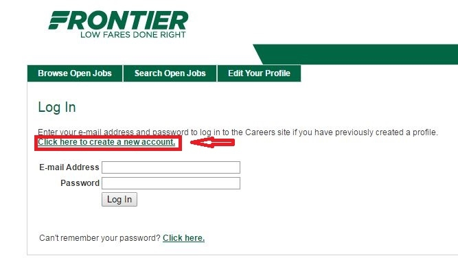 apply Frontier Airlines online step 4