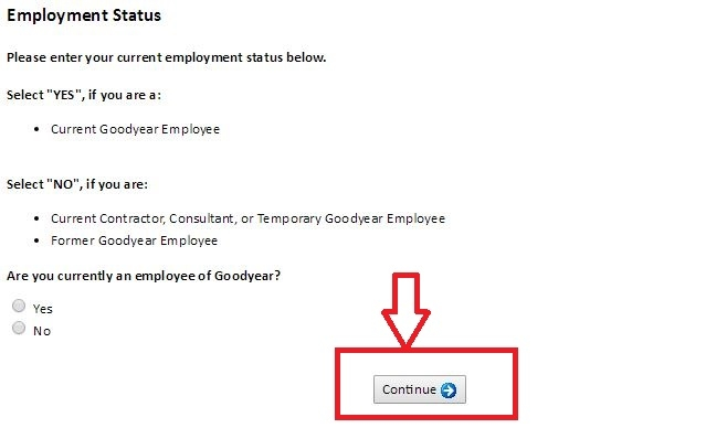 apply Goodyear online step 6